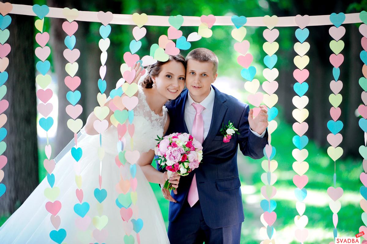 Свадебные гирлянды из бумаги своими руками