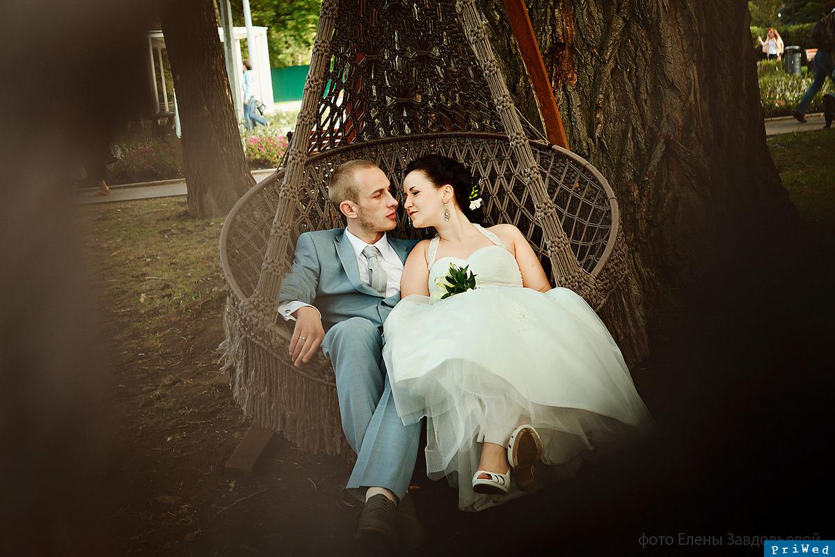 свадебные  в парке