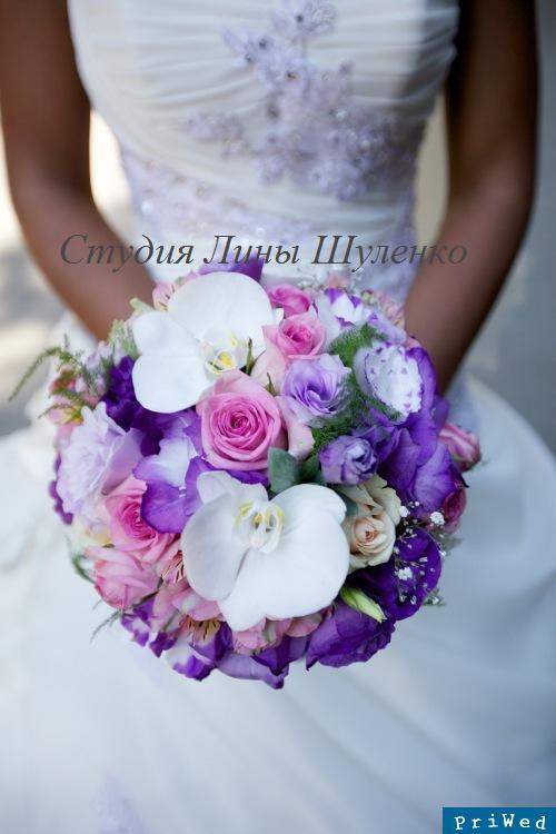 Свадьба. Сиреневый свадебный букет.Студия Лины Шуленко.. Флорист
