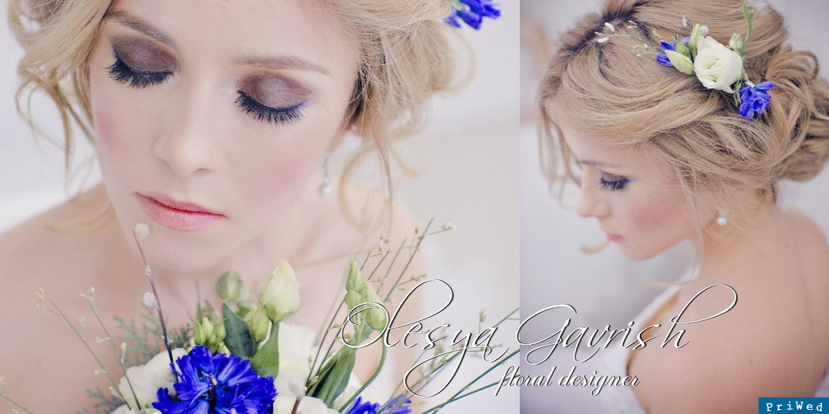 Свадьба в бирюзовом цвете макияж
