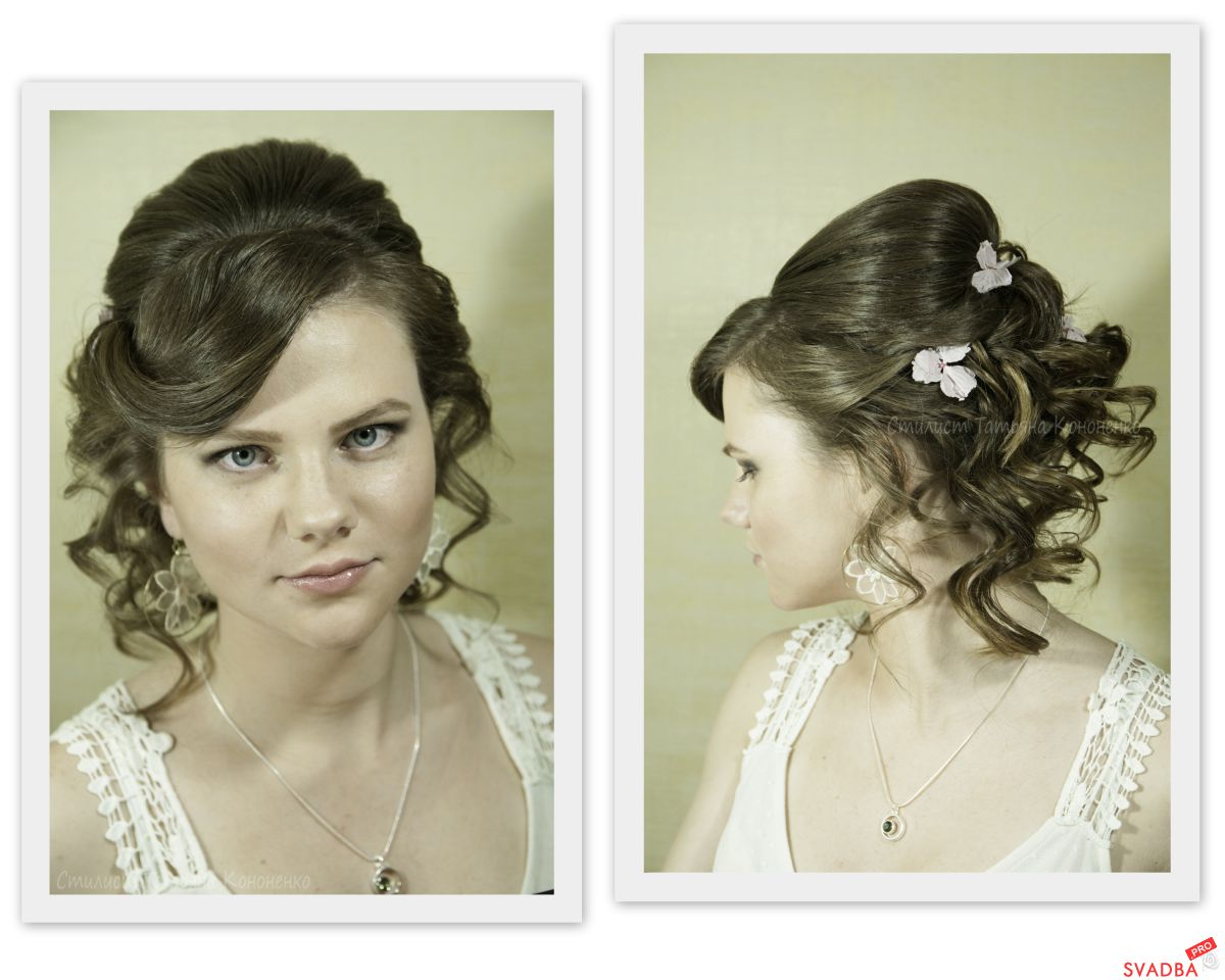 Свадебная прическа для полного лица фото