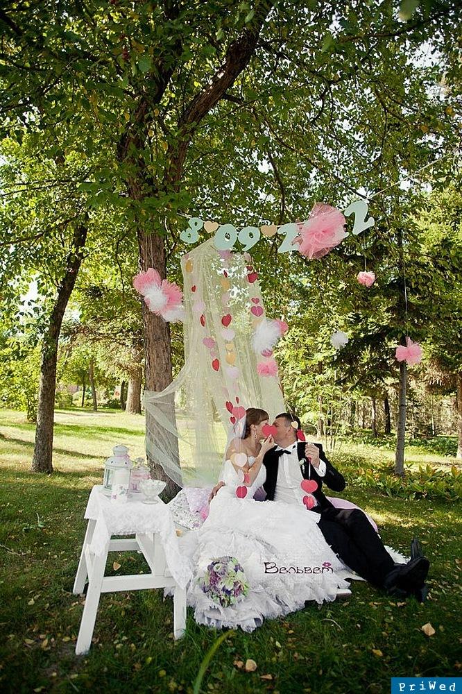 Свадебные фотосессии с декором