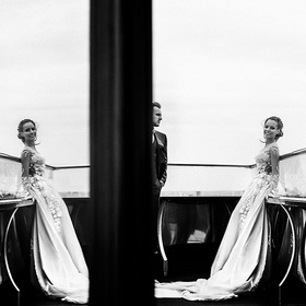 Lovely b&w wedding