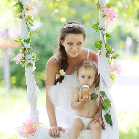 Fiancee with child