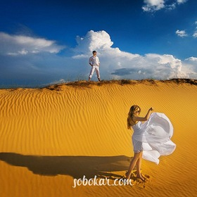 Love story in desert