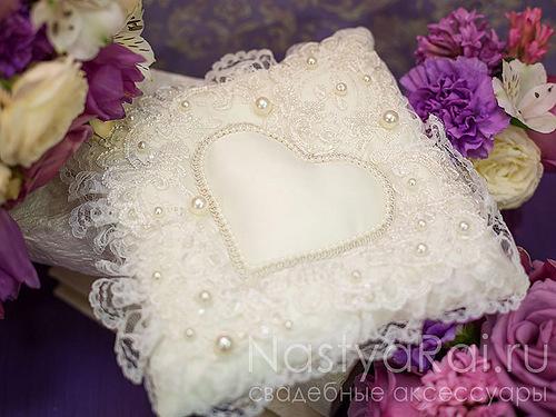Свадебные подушки своими руками фото