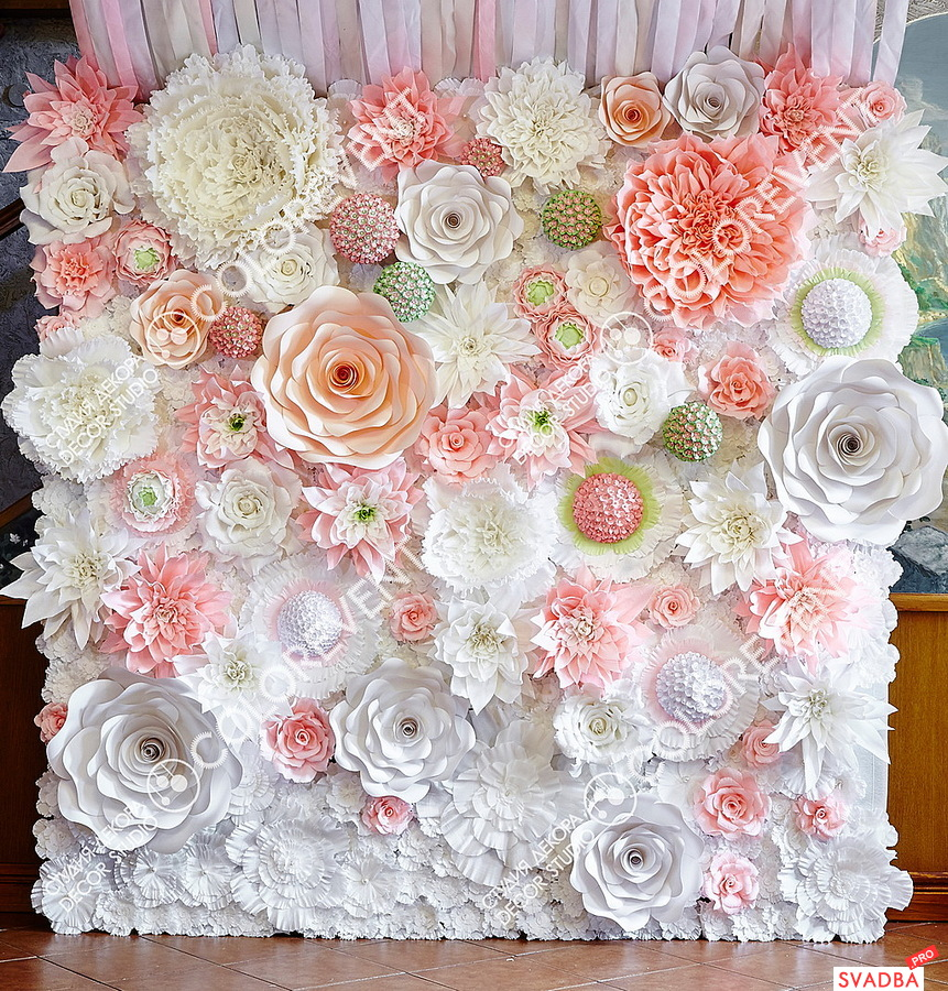 Фон из цветов на свадьбу своими руками 30